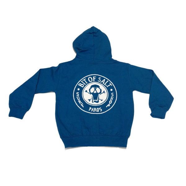BIT OF SALT KIDS ZIP HOODIE ROYAL BLUE