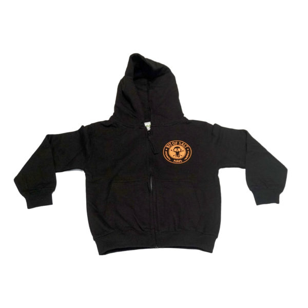 BIT OF SALT KIDS ZIP HOODIE BLACK