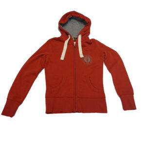 BIT OF SALT WOMENS OLD KARIBAN VINTAGE ZIP HOODY RED