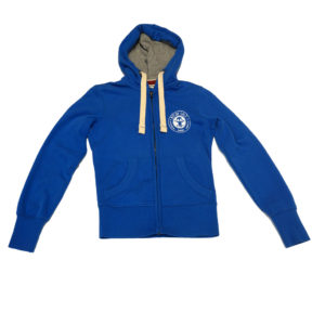 BIT OF SALT WOMENS OLD KARIBAN VINTAGE ZIP HOODY ROYAL BLUE