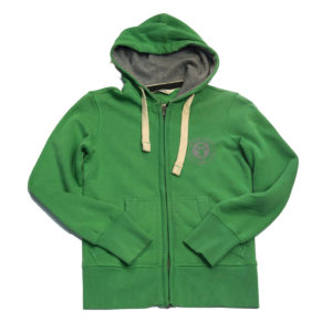 BIT OF SALT WOMENS OLD KARIBAN VINTAGE ZIP HOODY GREEN