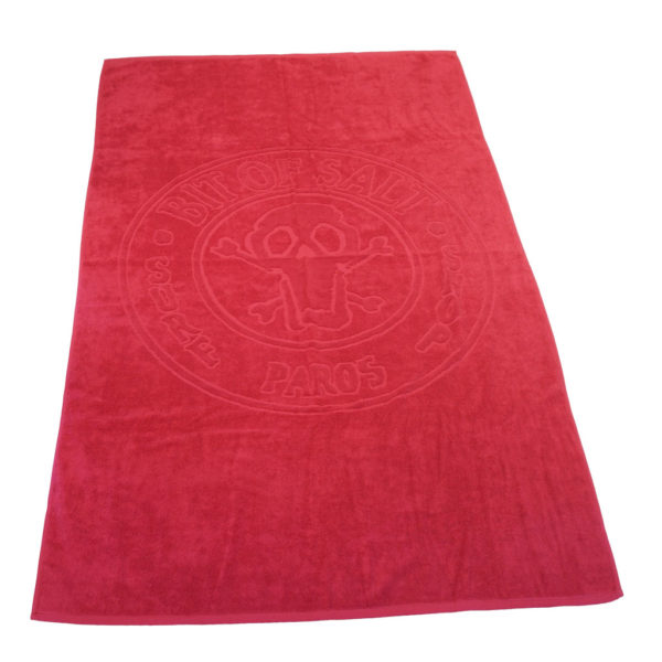 BIT OF SALT BEACH TOWEL fuchsia
