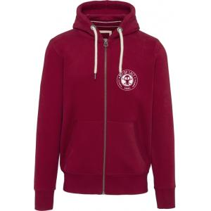 BIT OF SALT MENS KARIBAN VINTAGE ZIP HOODY  RED