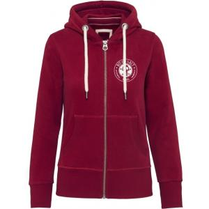 BIT OF SALT WOMENS KARIBAN VINTAGE  ZIP HOODY RED