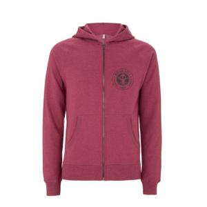 BIT OF SALT SALVAGE UNISEX ZIP HOODY PLUM