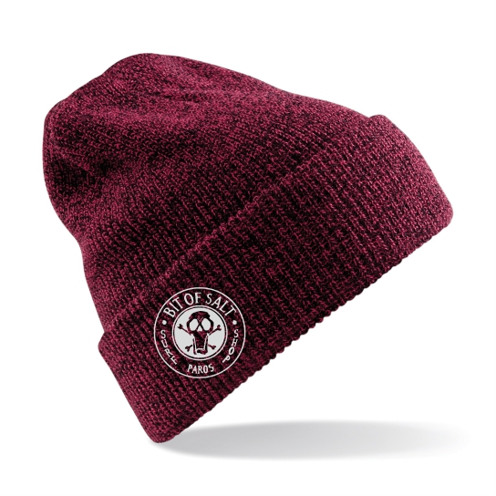 BIT OF SALT BEANIE BURGUNDY