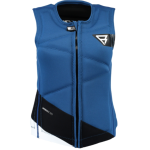 BRUNOTTI DEFENCE WAKE VEST BLACK/BLUE (FRONTZIP)