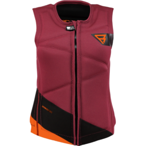 BRUNOTTI DEFENCE WAKE VEST BLACK/RED (FRONTZIP)