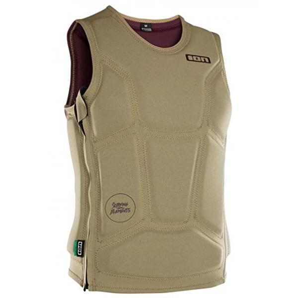 ION Collision Vest Core SZ  (KHAKI/DARK BERRY)