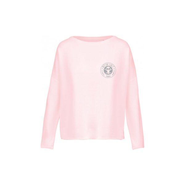 BIT OF SALT Ladies' oversized sweatshirt K471 Pale Pink