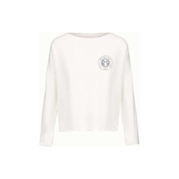 BIT OF SALT Ladies' oversized sweatshirt K471 Off White