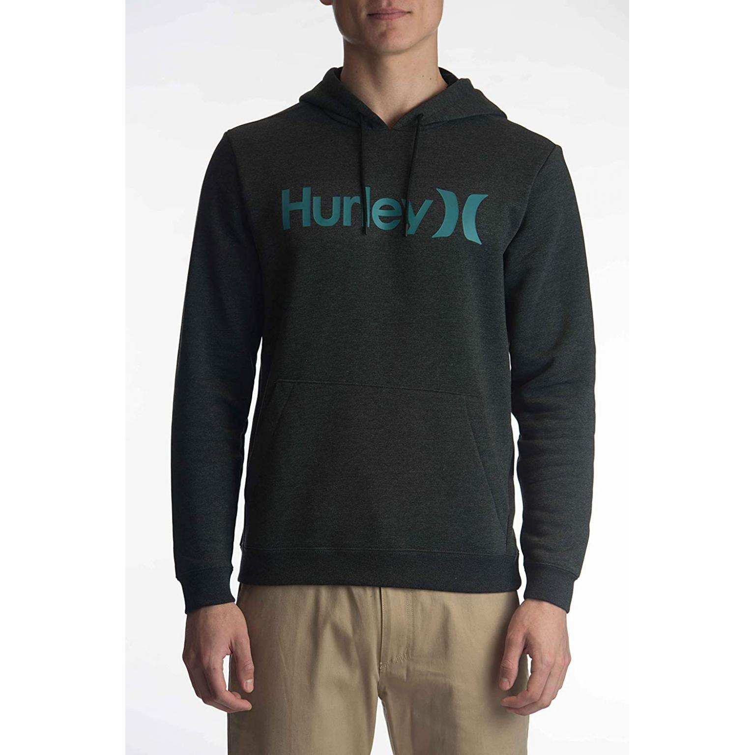 HURLEY  M Surf Check One & Only Pullover Long Sleeve Fleece Top