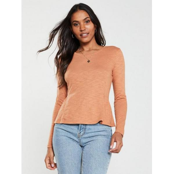 superdry canyon PEPLUM RODEO LS TOP