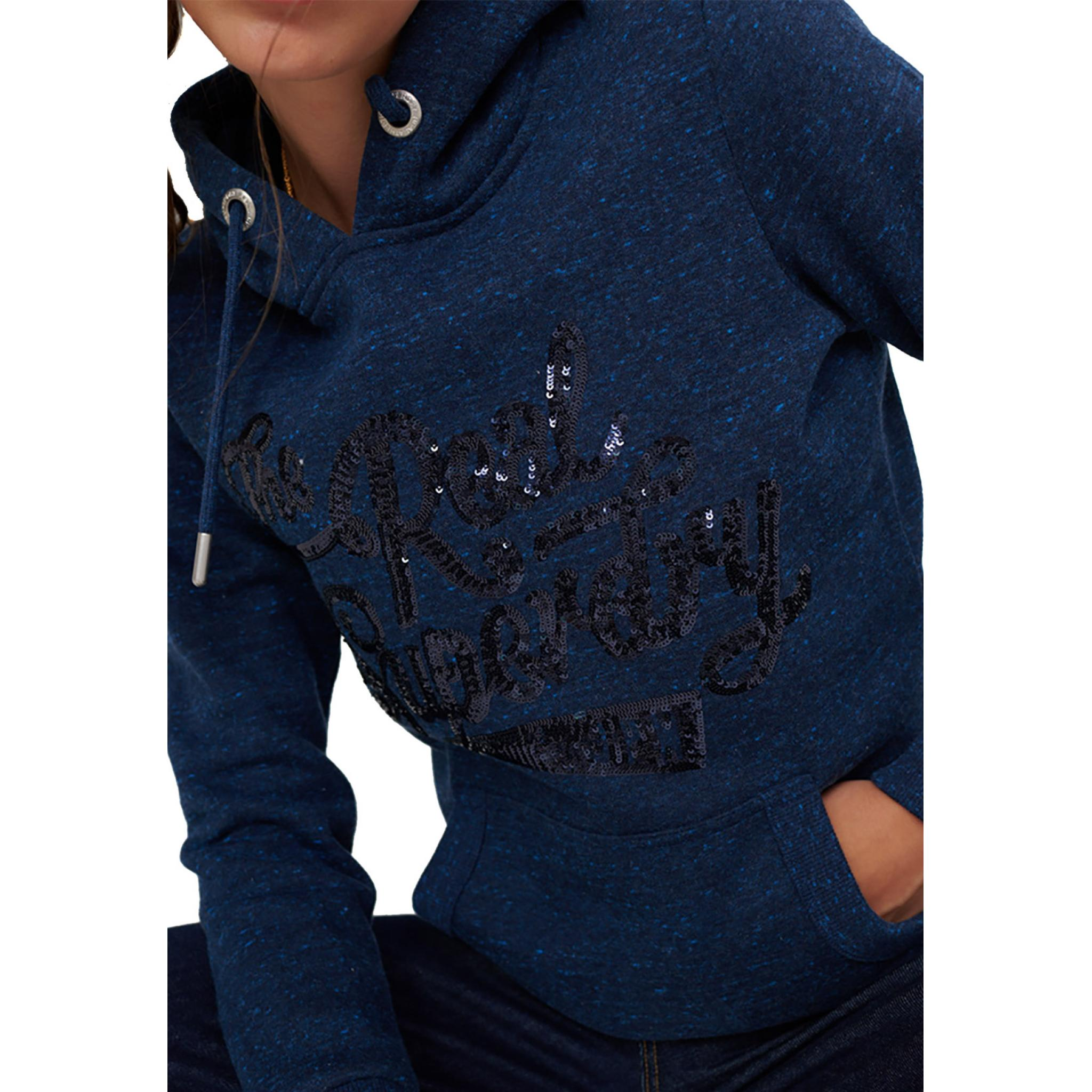 SUPERDRY THE REAL TONAL SEQUIN ENTRY HO