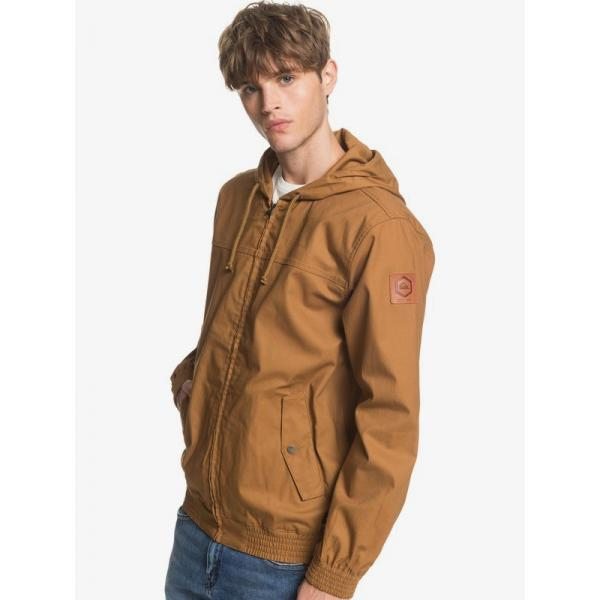 QUIKSILVER Brooks Unlined Hooded Canvas Jacket