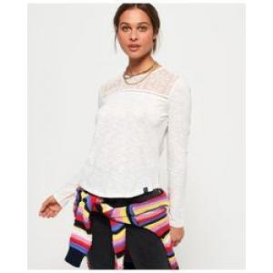 SUPERDRY EMB MESH LS TOP
