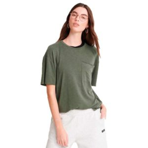 superdry canyon essential pocket tee CAPULET OLIVE