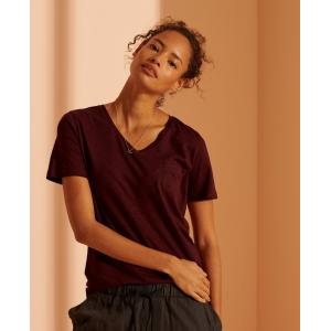 superdry scripted V NECK tee DEEP PORT