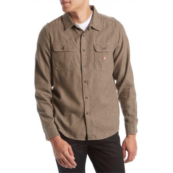VISSLA  Isolation Long-Sleeve Flannel Shirt