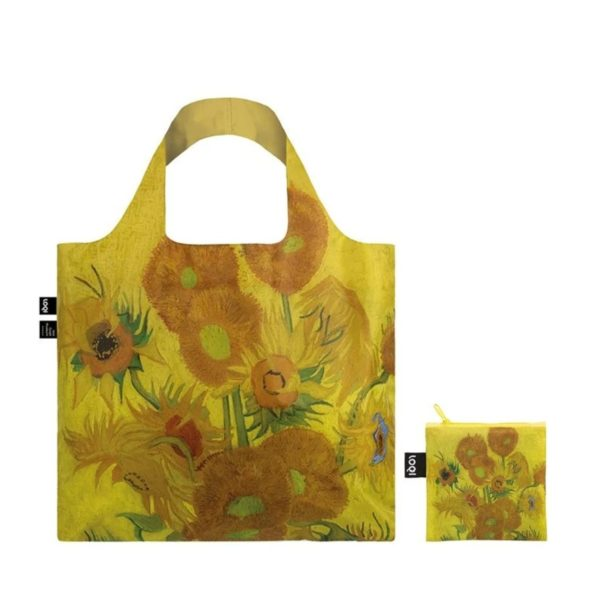 LOQI Museum Foldable Tote Bag – Vincent Van Gogh – Sunflowers 1889