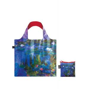 LOQI CLAUDE MONET MULTICOLOR WATER LILIES BAG