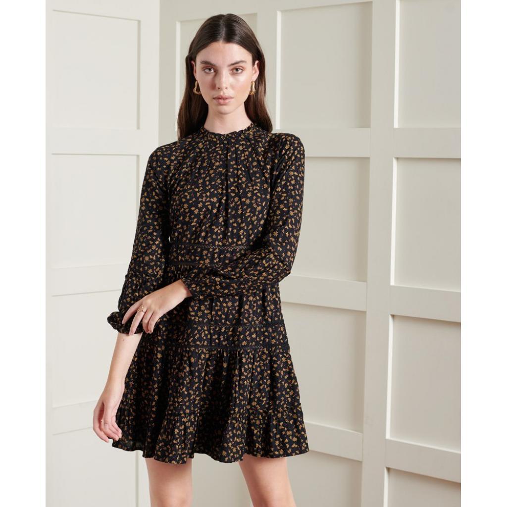 SUPERDRY Richelle Long Sleeve Dress