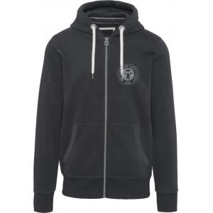BIT OF SALT MENS KARIBAN VINTAGE ZIP HOODY CHARCOAL