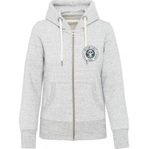 BIT OF SALT WOMENS KARIBAN VINTAGE  ZIP HOODY ASH GREY HEATHER