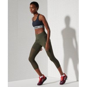 SUPERDRY TRAINING 7/8 LEGGINGS ARMY KHAKI