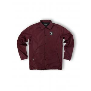 WE RIDE LOCAL (EMBLEM BURGUNDY COACH JACKET)