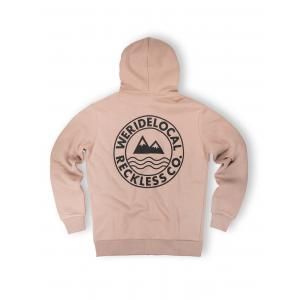 WE RIDE LOCAL (ERA BEIGE ZIPPED HOODIE)