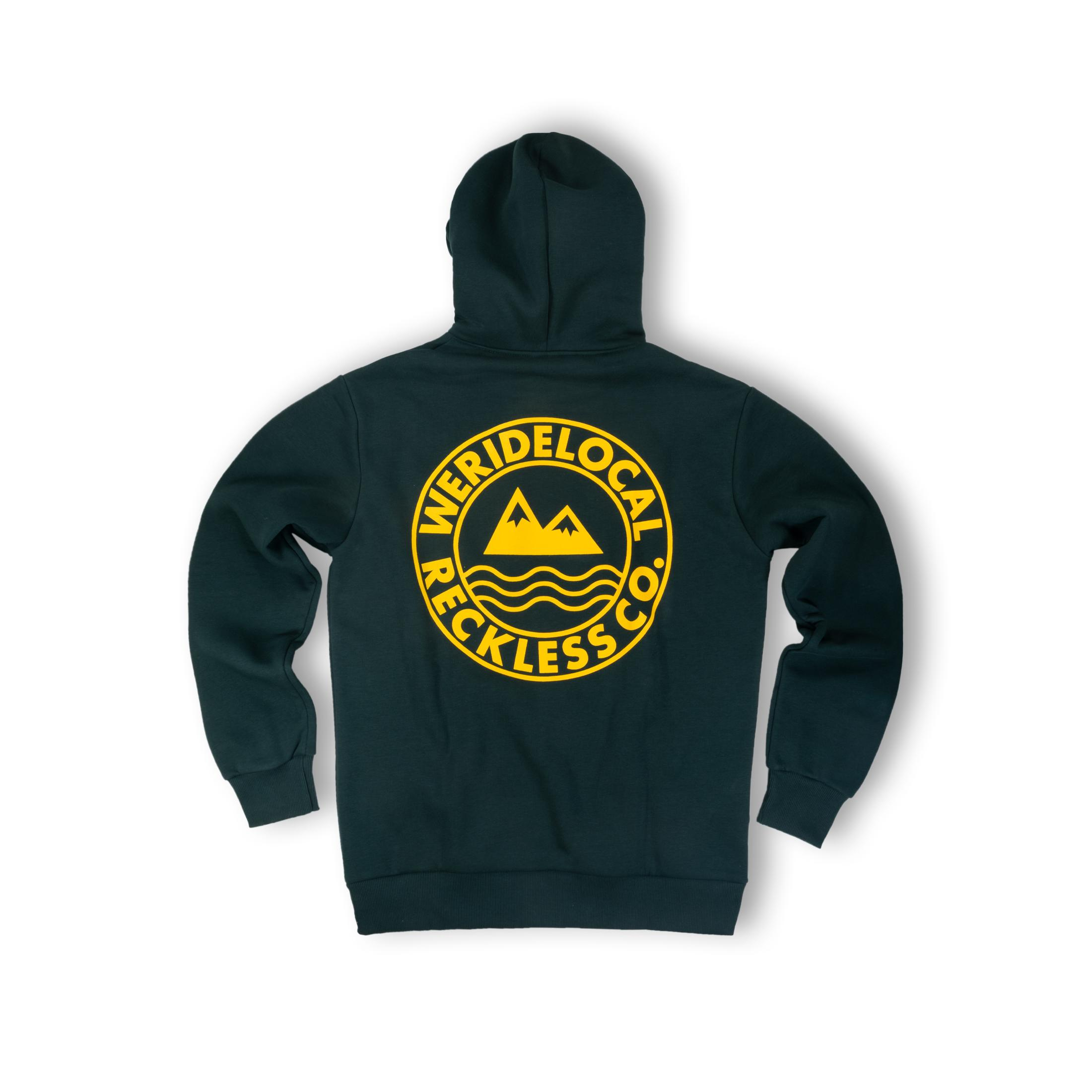 WE RIDE LOCAL (ERA FOREST GREEN HOODIE)