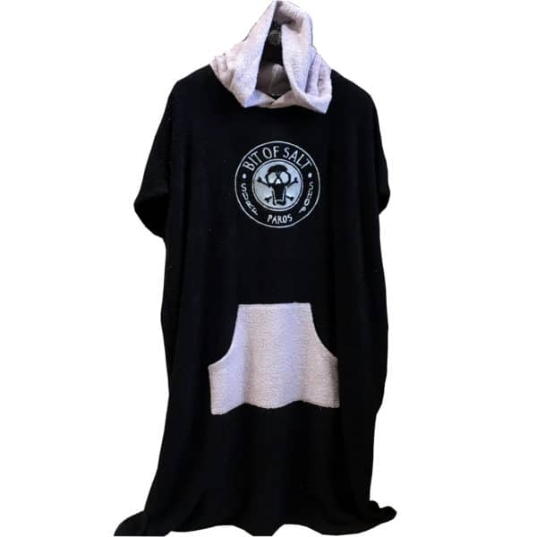 BIT OF SALT PONCHO black - light grey
