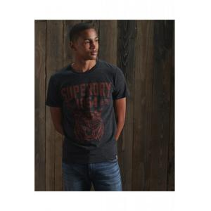 SUPERDRY PW CLASSIC TEE BLACK SNOW HEATHER
