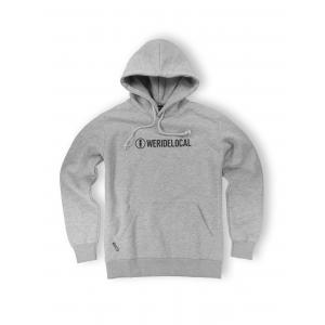WE RIDE LOCAL LOGOTYPE GREY MELANGE HOODIE