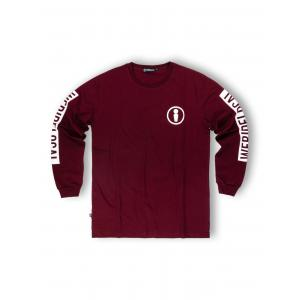 WE RIDE LOCAL UNION BURGUNDY L/S TEE