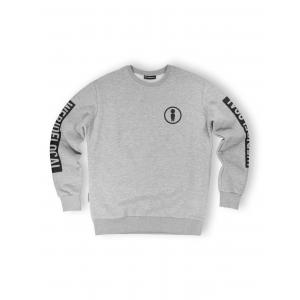 WE RIDE LOCAL UNION GREY MELANGE CREWNECK