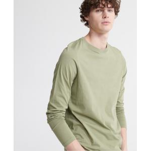 SUPERDRY THE STANDARD LABEL LS TOP OIL GREN